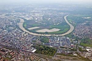 Vue aérienne de Francfort, Allemagne