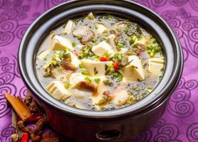 soupe de légumes et tofu photo