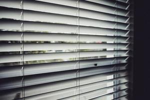 gros plan, de, stores fenêtre