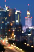 lumières de la ville floue photo