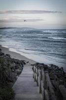 escaliers menant à la mer photo