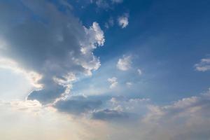 nuages bleus et ciel photo