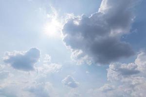 nuages bleus et ciel