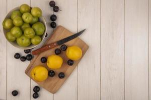 vue de dessus des fruits
