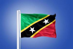 drapeau de saint kitts et nevis battant photo
