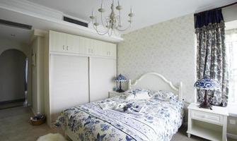 intérieurs de maison, la chambre de style pastoral photo