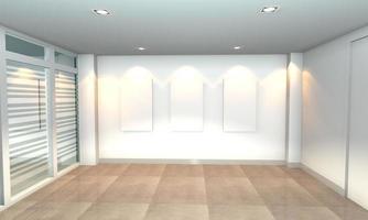 galerie intérieure blanche