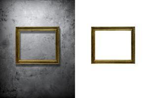 cadre photo sur mur de béton