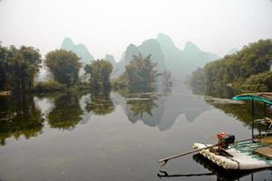 superbes paysages à la rivière li en chine