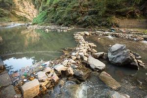pollution de l'environnement dans l'Himalaya. photo