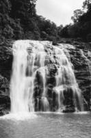 niveaux de gris d'une cascade