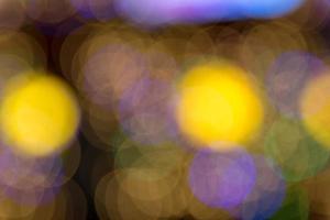 lumières défocalisées éclairées