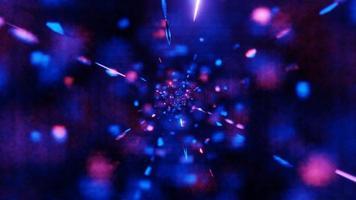 particules de néon rougeoyantes