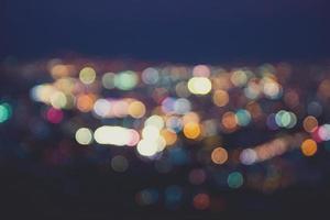 lumières floues, effet vintage