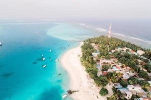 Vue aérienne de l'île de Fulidhoo
