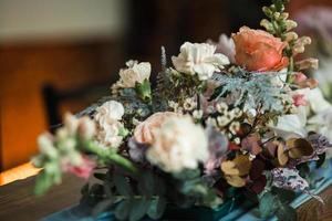gros plan, de, a, arrangement floral photo