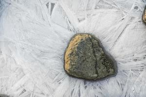 glace mince et roche photo