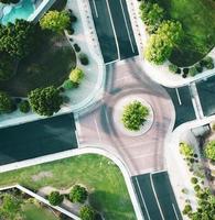 vue à vol d'oiseau d'une intersection