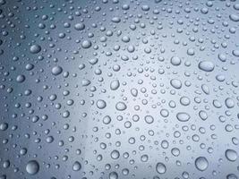 gros plan, de, gouttes pluie photo