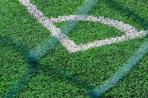 champ vert de gazon artificiel photo