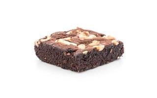 brownies au chocolat sur fond blanc