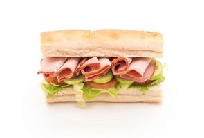sandwich sous-marin salade de jambon