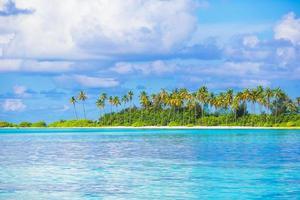 île tropicale et un océan bleu photo