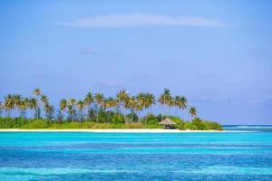 maldives, asie du sud, 2020 - cabane sur une île tropicale photo