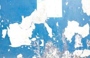 peinture écaillée bleue