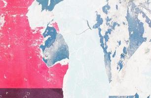 écaillage de peinture abstraite rouge et bleu