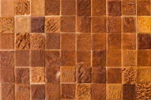 cuir de vachette cousu en carrés