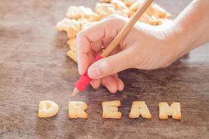 lettres de biscuit de rêve