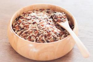 riz dans un bol sur une table