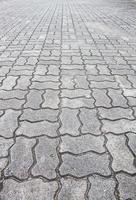 chaussée de brique grise
