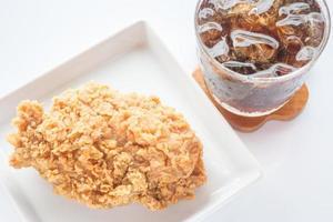 poulet frit et cola photo