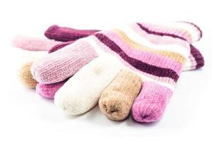 gants d'hiver sur fond blanc photo