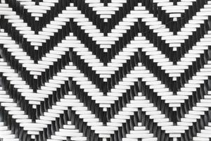 fond noir et blanc en rotin photo