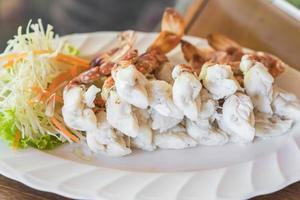pattes de crabe cuites à la vapeur photo