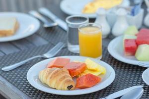gros plan, de, a, plat, de, petit déjeuner