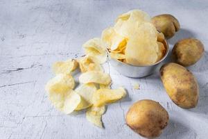 chips de pommes de terre frites