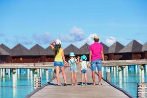 maldives, asie du sud, 2020 - famille en vacances d'été