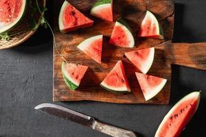 tranches de melon d'eau douce