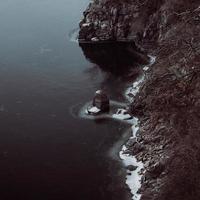 vue de falaise maussade