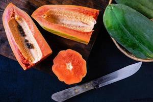 papaye coupée en deux