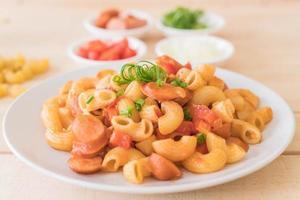 macaroni à la saucisse photo