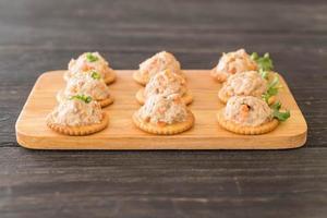 tartinade de thon avec cracker