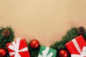 noël et nouvel an avec coffrets cadeaux photo