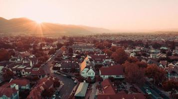 photographie aérienne de maisons