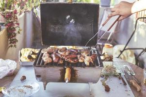 barbecue de viande grillée