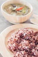 riz aux petits fruits au curry vert photo